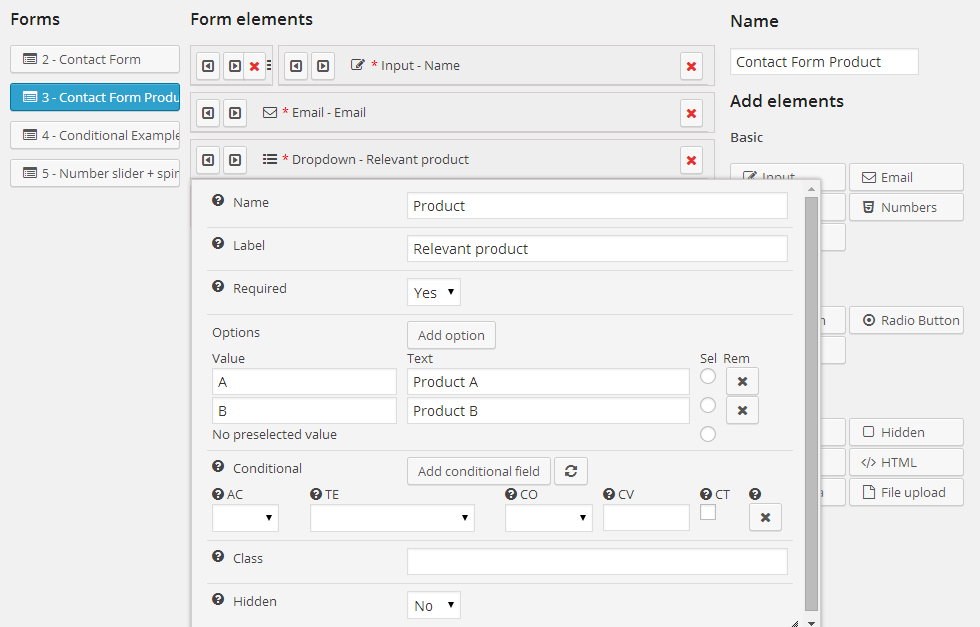ez Form Builder - Backend